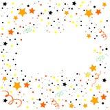 Fondo colorido del marco de la celebración con confeti ilustración del vector
