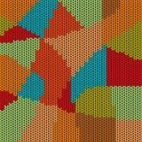 Fondo colorido del modelo de la puntada de la cruz del mosaico Fotografía de archivo