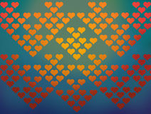 Fondo colorido del modelo de los corazones Imagen de archivo libre de regalías