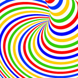 Fondo colorido del movimiento del vórtice del diseño Foto de archivo libre de regalías