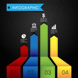 Fondo colorido del negro del cuero de los gráficos de Infographic Foto de archivo libre de regalías