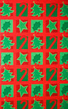 Fondo colorido del papel de embalaje de regalo de la Navidad Imagen de archivo
