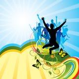Fondo colorido del partido Fotos de archivo libres de regalías