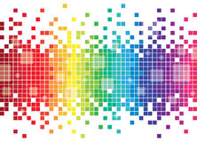 Fondo colorido del pixel Imagen de archivo libre de regalías