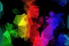 Fondo colorido del polígono Imágenes de archivo libres de regalías