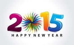 Fondo colorido del texto del Año Nuevo Fotografía de archivo