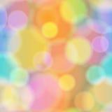 Fondo colorido del vector del extracto de Bokeh Fotos de archivo libres de regalías