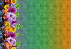 Fondo colorido digital del estampado de plores floral abstracto stock de ilustración