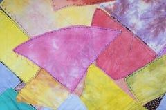 Fondo colorido en blanco abstracto del modelo de la tela Foto de archivo