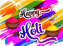 Fondo colorido feliz de Holi Fotografía de archivo