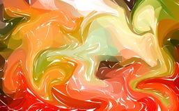 Fondo colorido flúido de las formas pendientes de moda coloridas El líquido forma la composición Aviador líquido moderno abstract Fotografía de archivo