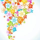 Fondo colorido floral Imagen de archivo libre de regalías
