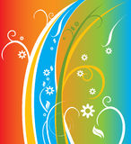 Fondo colorido floral del resorte Imagen de archivo libre de regalías