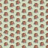 Fondo colorido inconsútil hecho de cabezas de tigres en el DES plano Fotos de archivo libres de regalías