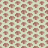 Fondo colorido inconsútil hecho de cabezas del perro en desig plano Imagen de archivo