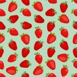 Fondo colorido inconsútil hecho de la fresa en diseño plano Foto de archivo libre de regalías