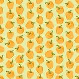 Fondo colorido inconsútil hecho de la pimienta amarilla en desig plano stock de ilustración