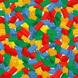 Fondo colorido inconsútil hecho de los pedazos de Lego Fotografía de archivo