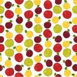 Fondo colorido inconsútil hecho del diferente tipo de manzanas adentro Imagenes de archivo