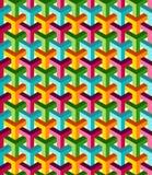Fondo colorido isométrico abstracto del modelo 3d Fotografía de archivo libre de regalías