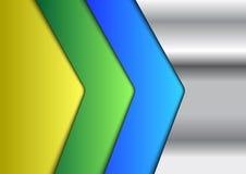 Fondo colorido metálico de Infographic Imagen de archivo libre de regalías