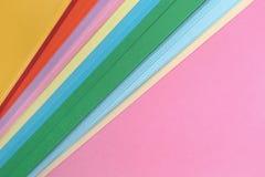 Fondo colorido minimalista abstracto Fotografía de archivo libre de regalías