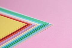 Fondo colorido minimalista abstracto Fotografía de archivo