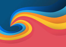 Fondo colorido ondulado Fotos de archivo libres de regalías