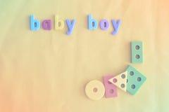 Fondo colorido para el bebé con las letras Copie el espacio Imagen de archivo