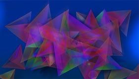 Fondo colourful astratto nelle forme geometriche, con il blu nel fondo assoluto dell'illustrazione illustrazione vettoriale