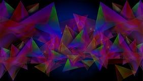 Fondo colourful astratto nelle forme geometriche, con il nero nel fondo assoluto dell'illustrazione illustrazione vettoriale