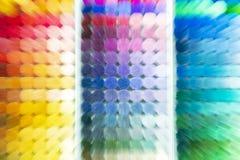 Fondo colourful Campioni di colore Immagine zumata fotografia stock libera da diritti