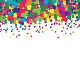 Fondo colourful dei coriandoli Modello di punto Illustrazione di vettore Cerchi punteggiati colorati luminosi dell'estratto Punti royalty illustrazione gratis