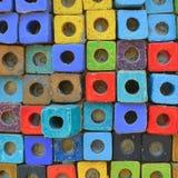 Fondo Colourful del blocco Fotografie Stock