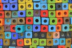 Fondo Colourful del blocco Fotografie Stock Libere da Diritti