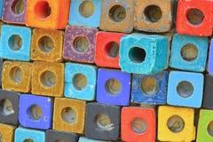Fondo Colourful del blocco Immagini Stock