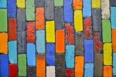 Fondo Colourful del blocco Fotografia Stock
