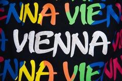 Fondo colourful del ricordo di Vienna Immagini Stock Libere da Diritti