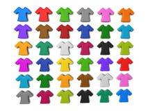Fondo Colourful dell'icona della maglietta illustrazione vettoriale