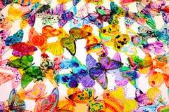 Fondo Colourful delle farfalle Fotografia Stock Libera da Diritti