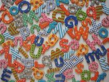 Fondo Colourful delle lettere fotografie stock libere da diritti