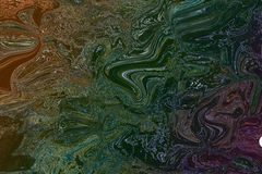 Fondo colourful psichedelico delle onde Fotografie Stock Libere da Diritti