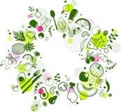 Fondo Colourful & sano dell'alimento - illustrazione di vettore royalty illustrazione gratis