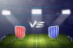 Fondo común del estadio del marcador del fútbol del vector libre illustration