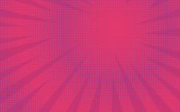 Fondo comico brillante a strisce di rosa astratto retro Immagini Stock Libere da Diritti