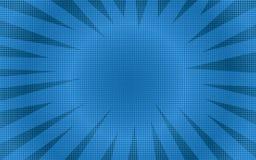 Fondo comico di semitono rotondo blu astratto Fotografia Stock