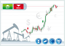 Fondo commerciale Fotografie Stock