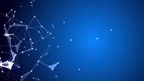 Fondo commerciale futuristico di Internet di pendenza triangolare Fotografie Stock