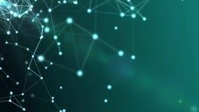 Fondo commerciale futuristico di Internet di pendenza triangolare Immagini Stock