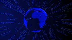 Fondo commerciale futuristico digitale di Internet della terra Immagine Stock